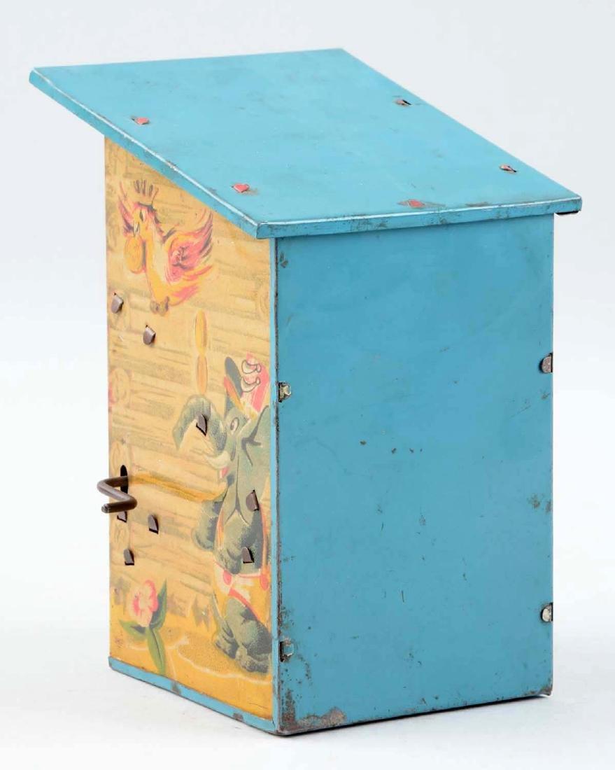 Tin Woodpecker Mechanical Bank. - 2