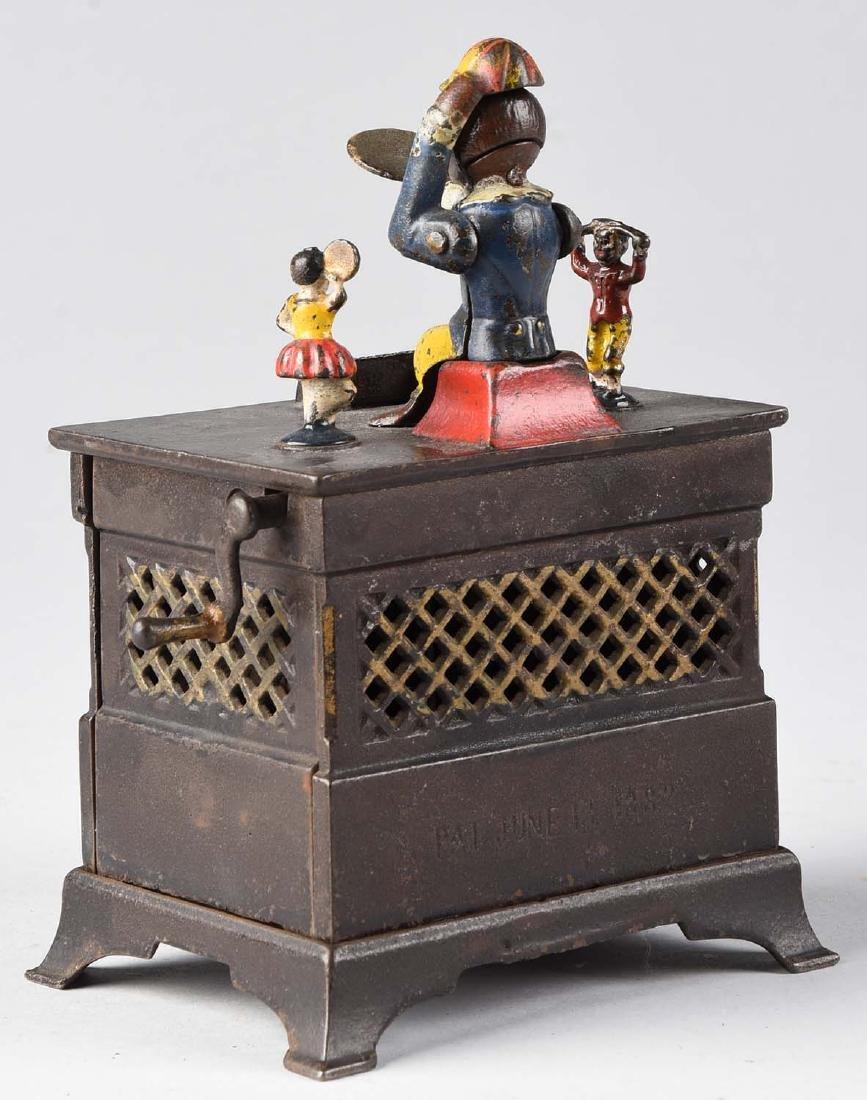 Kyser & Rex Cast Iron Organ, Boy & Girl Mechanical - 2