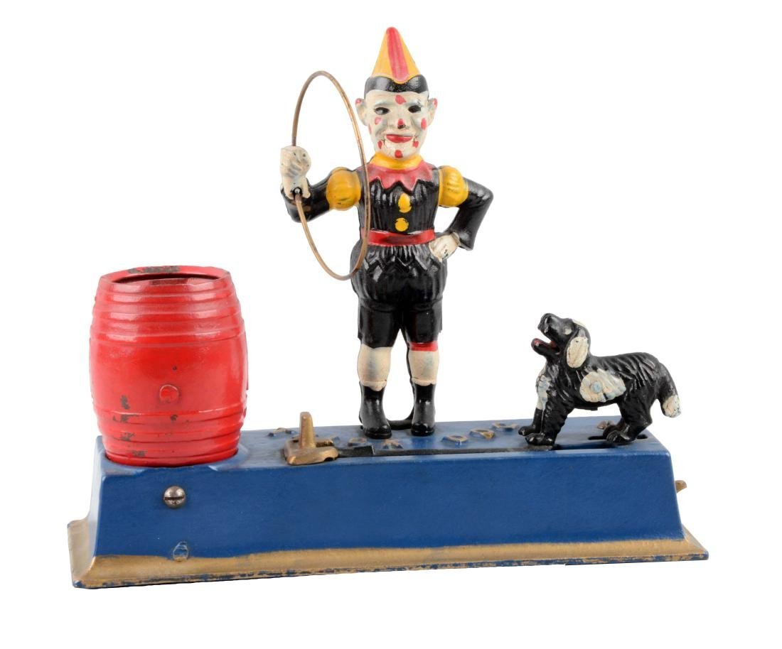 Hubley Cast Iron 1933 Trick Dog Mechanical Bank.