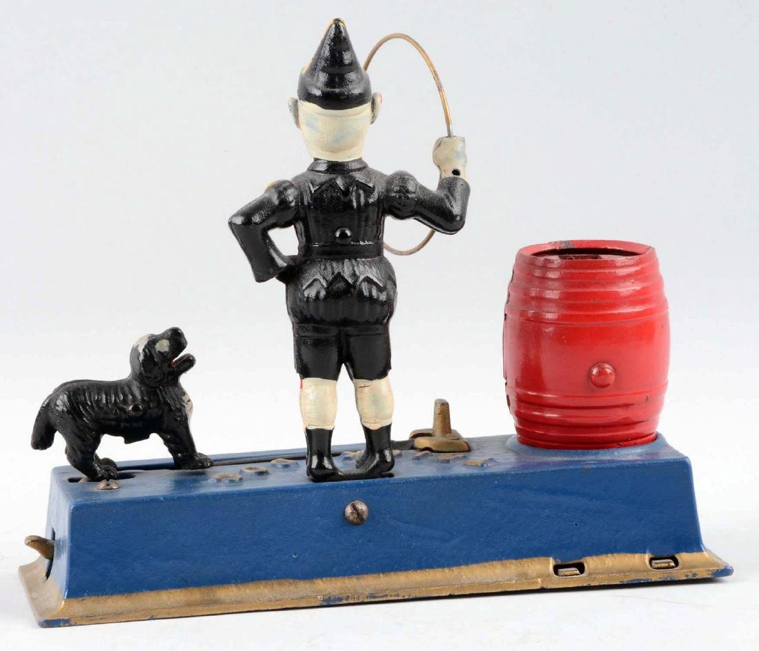 Hubley Cast Iron 1933 Trick Dog Mechanical Bank. - 2