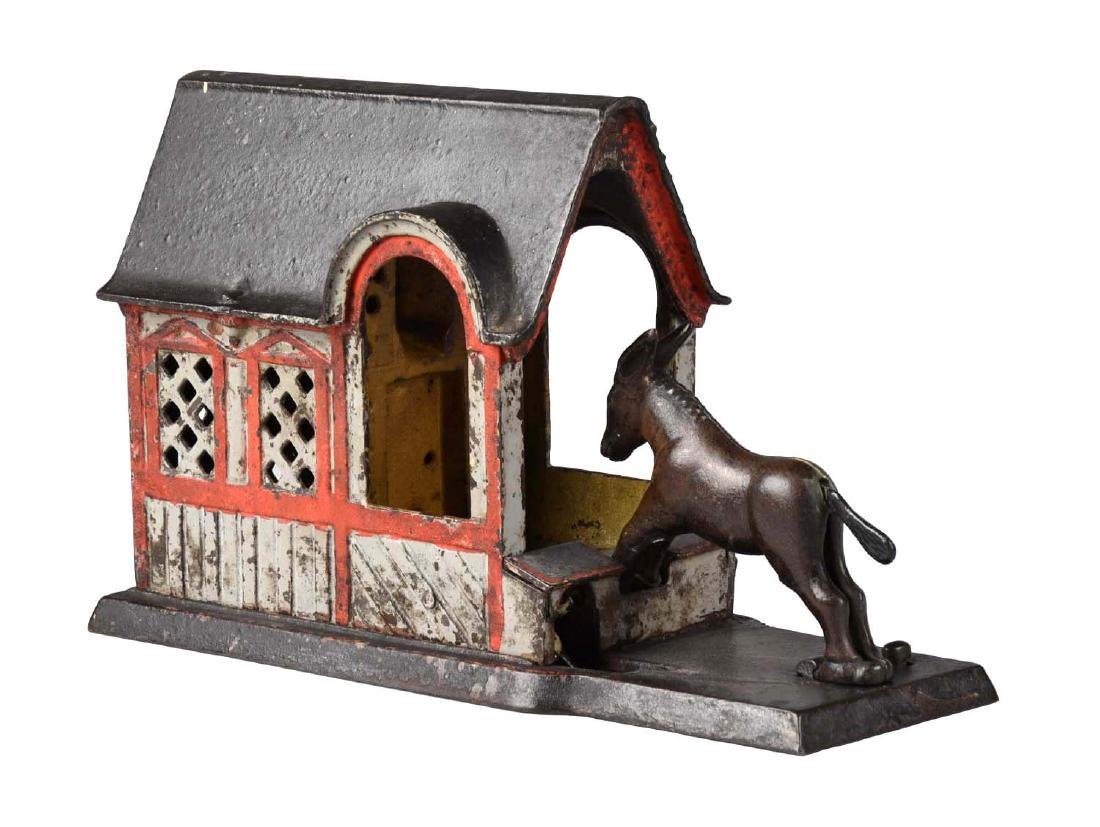 J. & E. Stevens Cast Iron Mule Entering Barn Mechanical