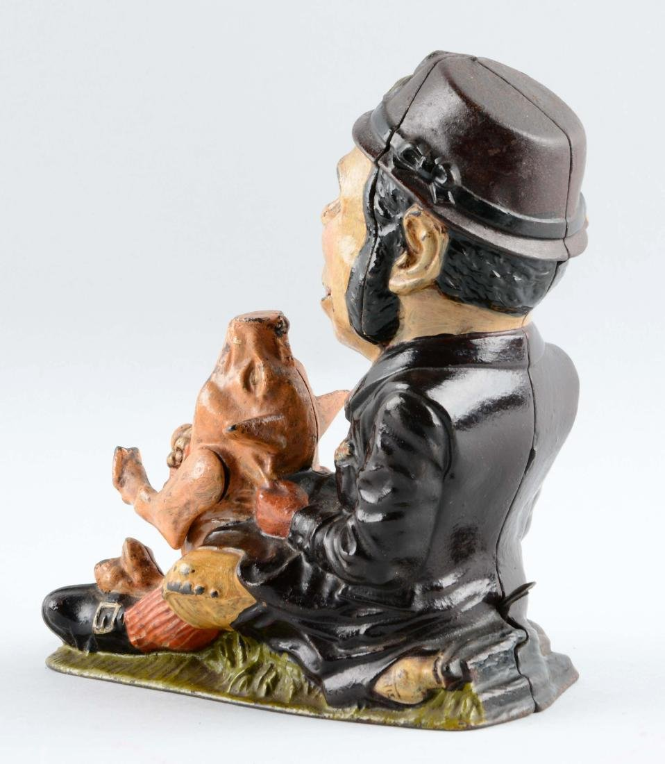 Cast Iron Paddy & The Pig Mechanical Bank. - 2