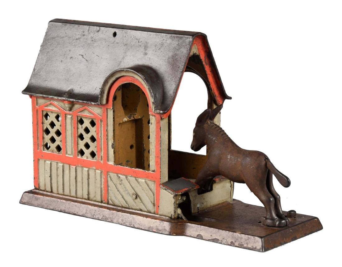 J. & E. Stevens Cast Iron Mule Entering Barn Mechanical