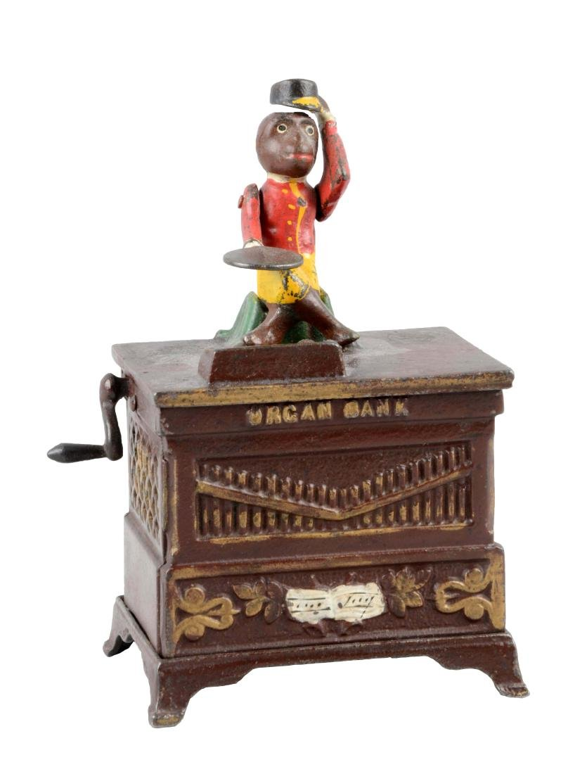 Kyser & Rex Cat Iron Organ Mechanical Bank - Medium.