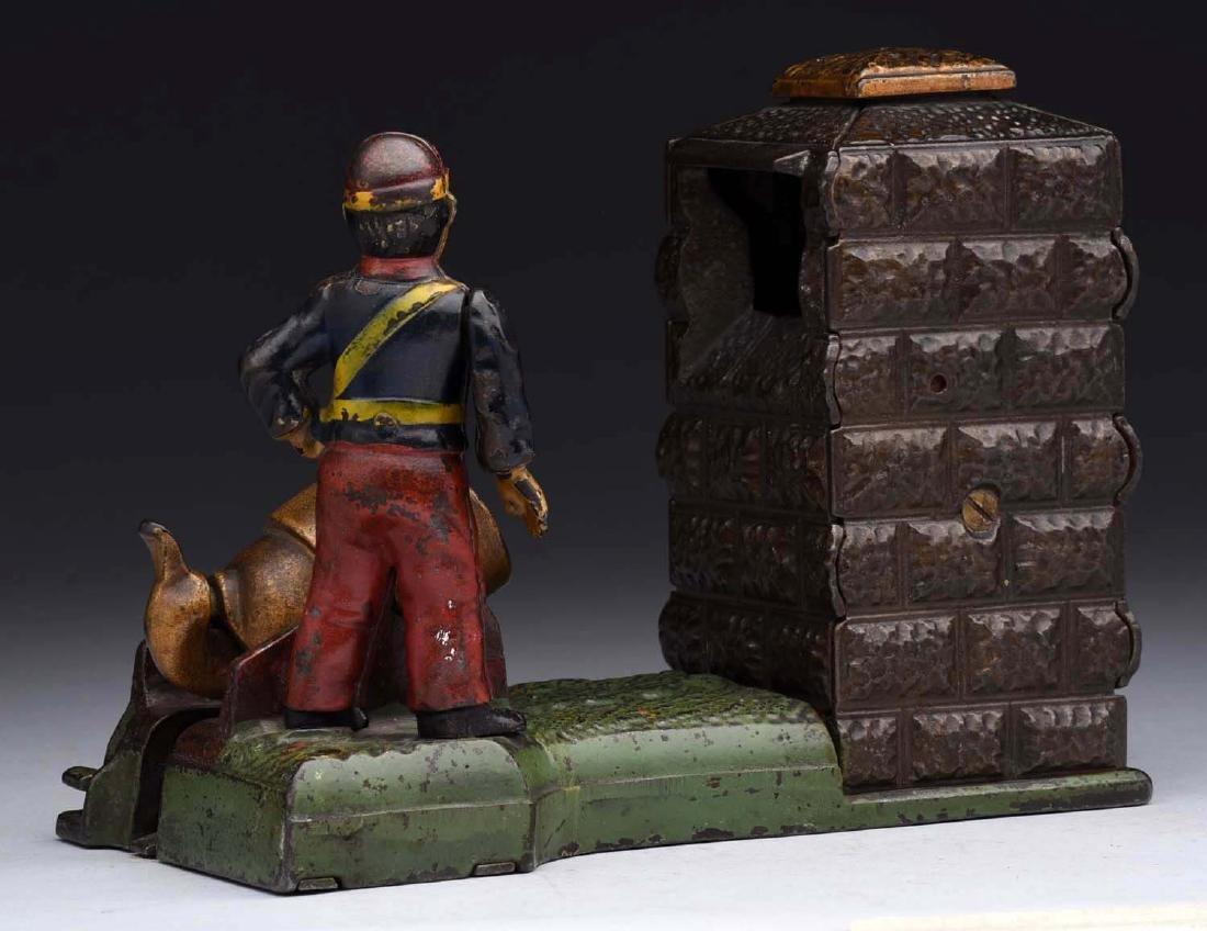 J. & E. Stevens Cast Iron Artillery Mechanical Bank. - 2