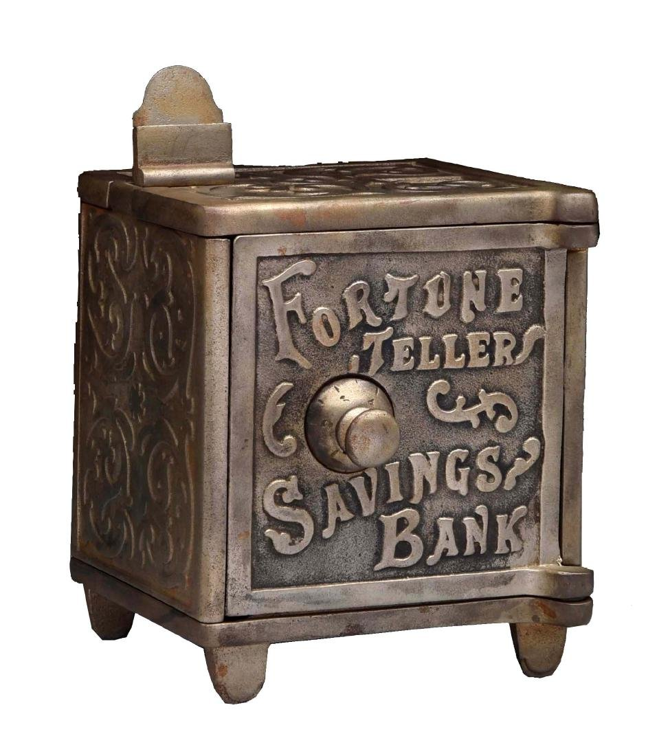 Cast Iron Fortune Teller Savings Bank.