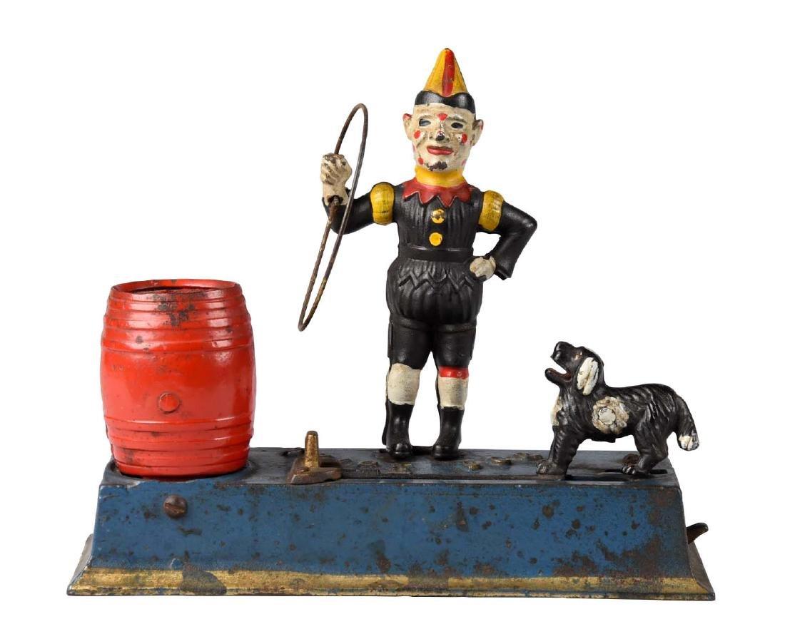 Jubley Cast Iron 1933 Trick Dog Mechanical Bank.