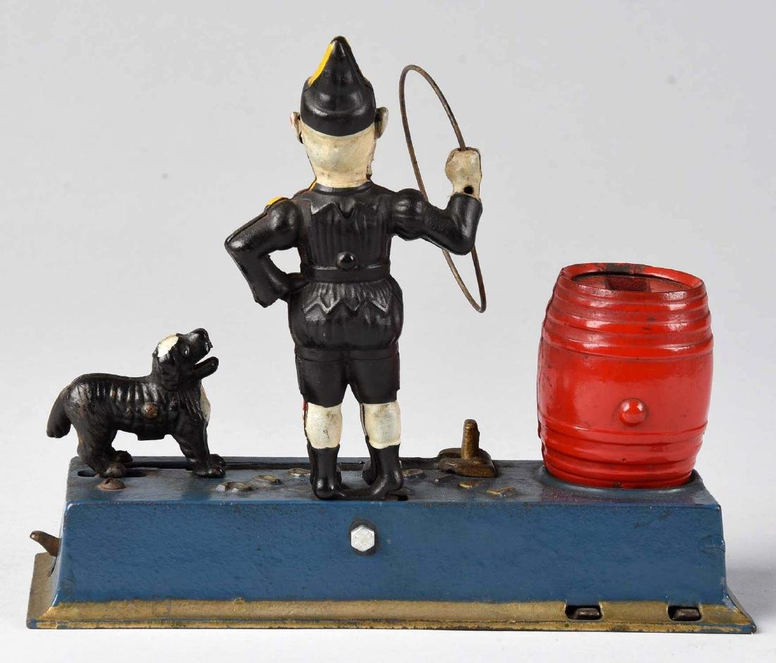 Jubley Cast Iron 1933 Trick Dog Mechanical Bank. - 2