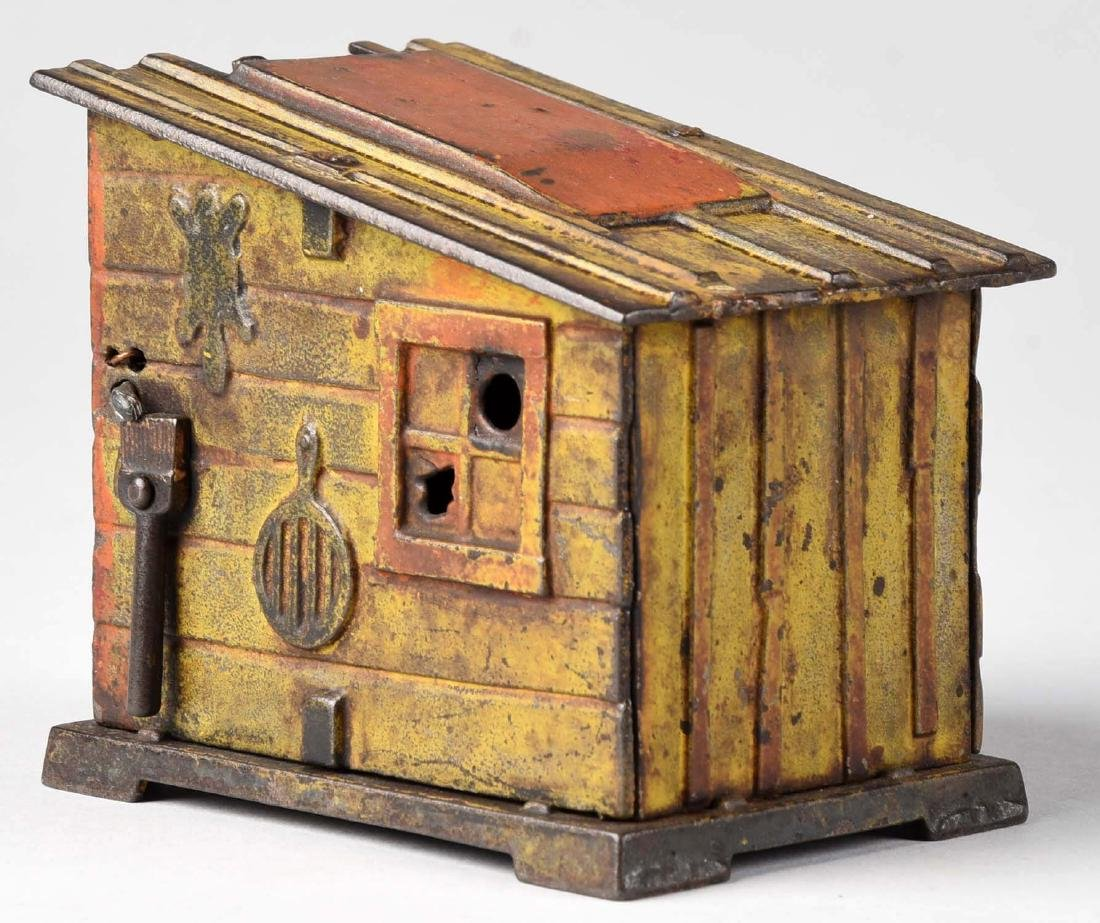 J. & E. Stevens Cast Iron Cabin Mechanical Bank. - 2