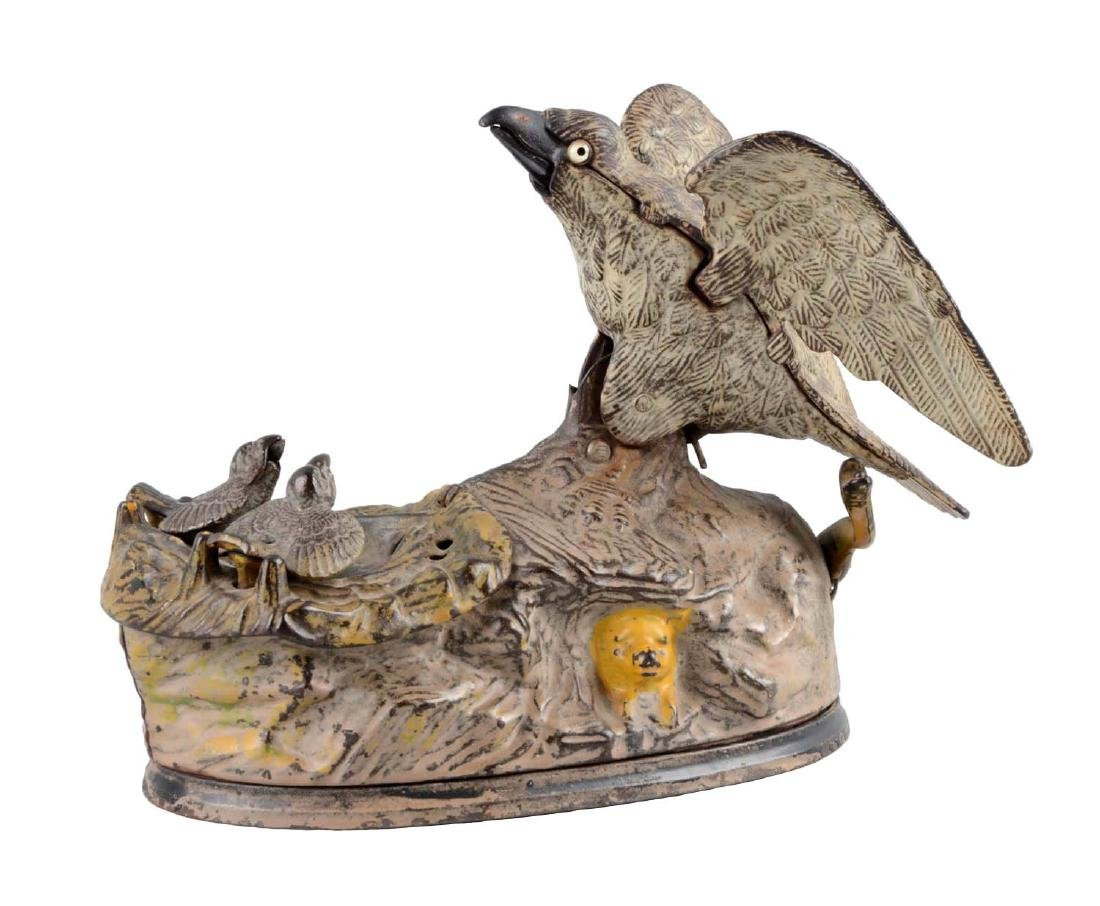 J. & E. Stevens Cast Iron Eagle & Eaglets Mechanical