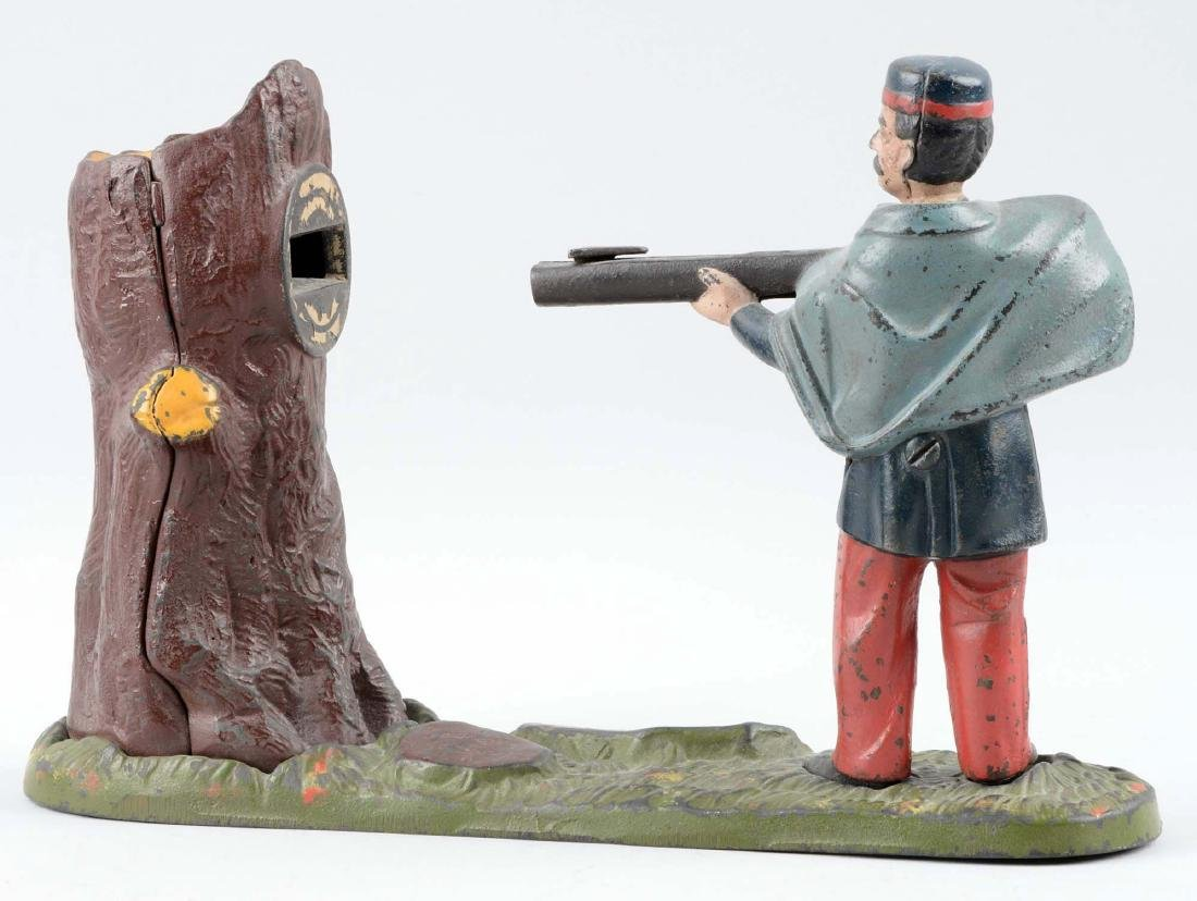 J. & E. Cast Iron Creedmoor Mechanical Bank. - 2