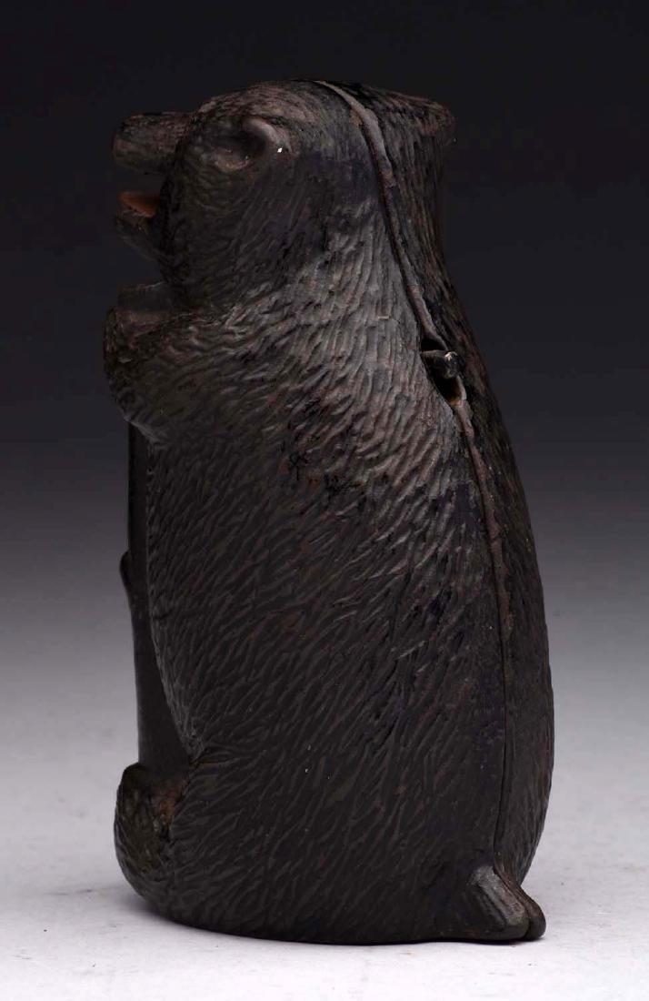 Judd Cast Iron Bear & Stump Mechanical Bank. - 2