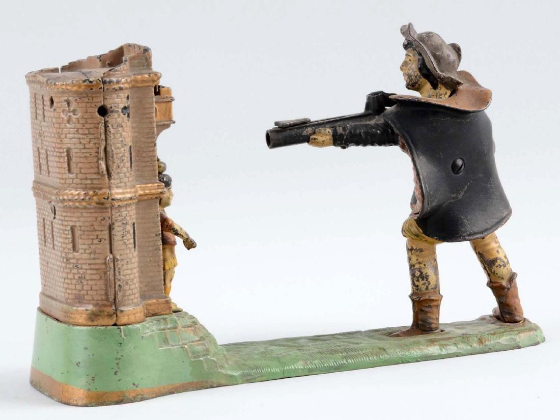 J. & E. Stevens Cast Iron William Tell Mechanical Bank. - 2