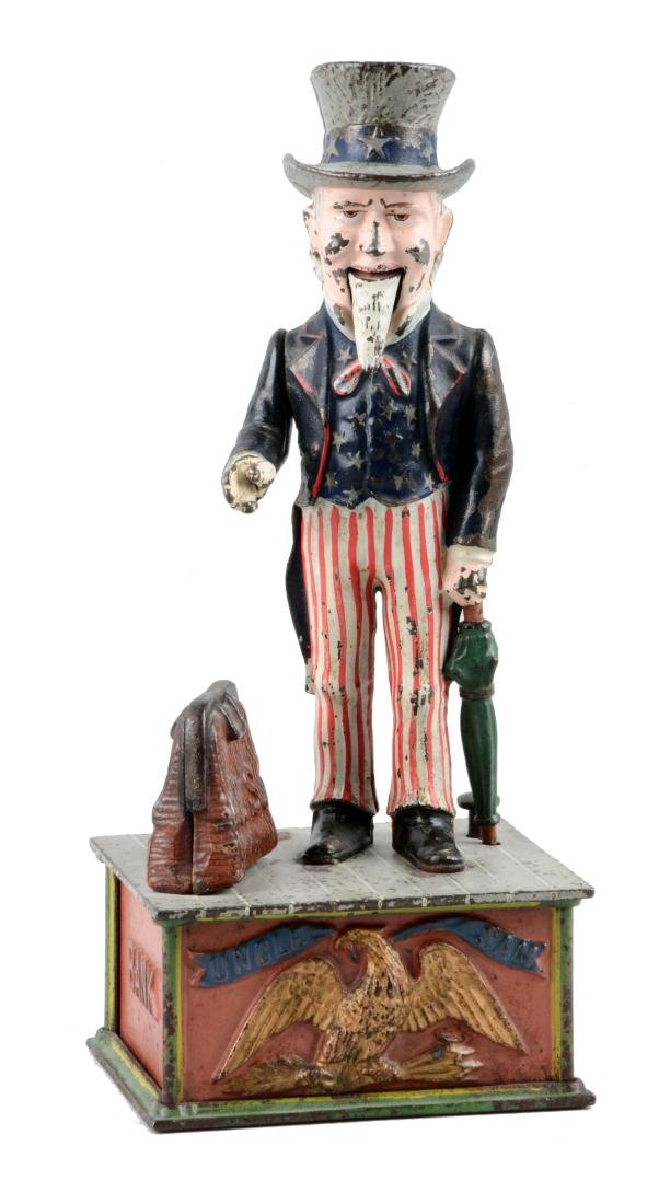 Shepard Hardware Cast Iron Uncle Sam Mechanical Bank.