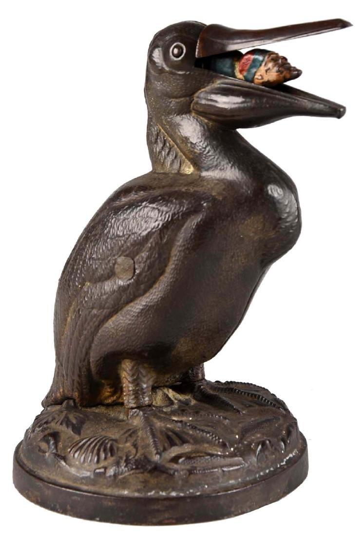 Trenton Lock & Hardware Cast Iron Pelican & Arab