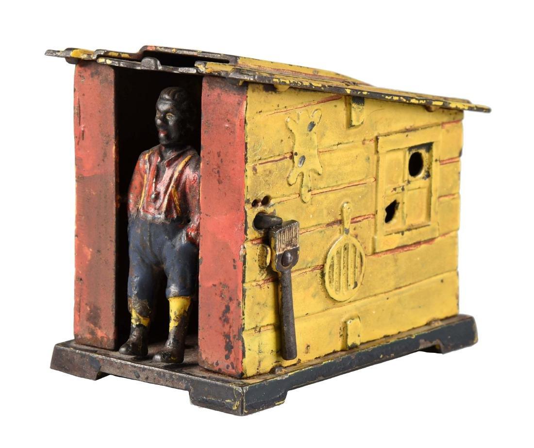 J. & E. Stevens Cast Iron Cabin Mechanical Bank.