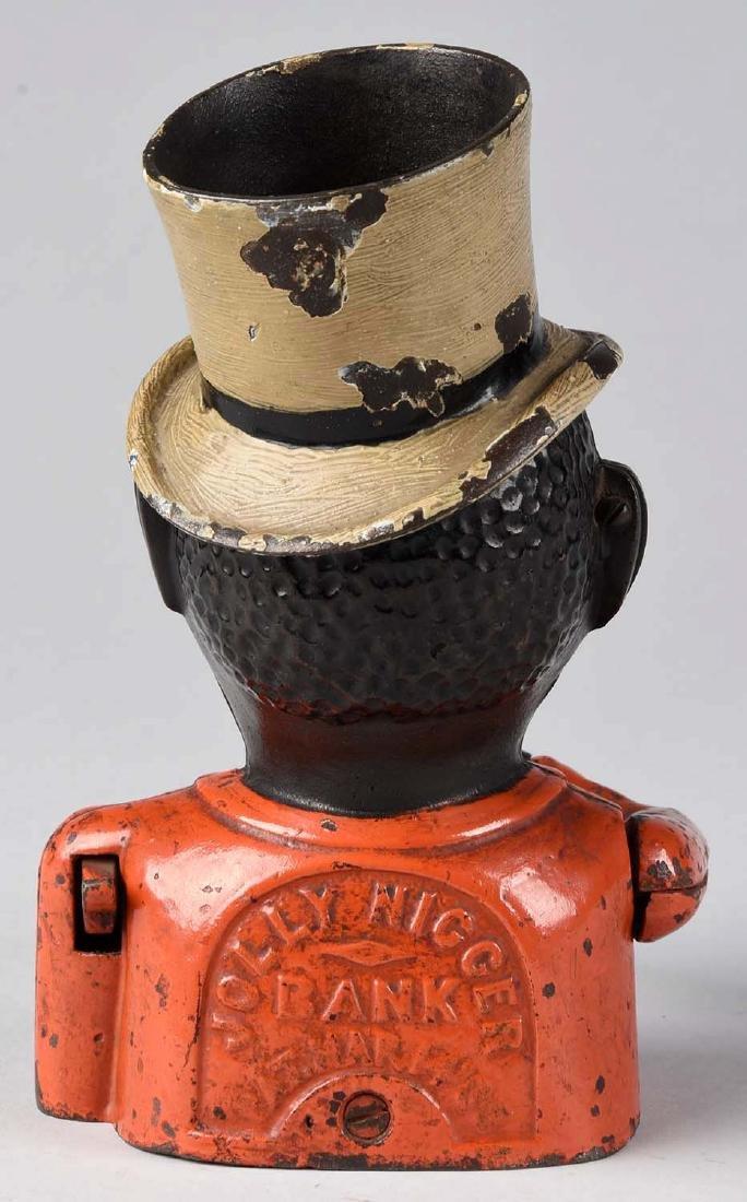 John Harper Cast Iron Jolly w/ Top Hat Mechanical Bank. - 2