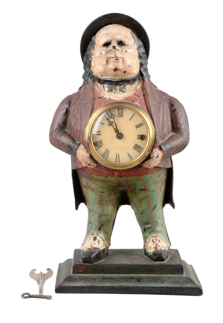 John Bull Cast Iron Blinking Eye Clock