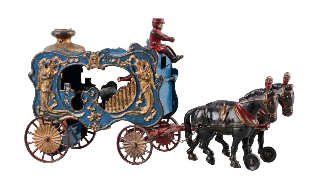 Hubley Cast Iron Royal Circus Horse Drawn Calliope.