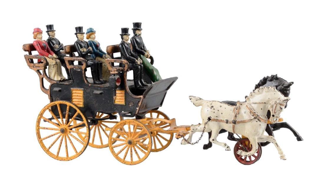Hubley Horse Drawn Three Seat Brake.