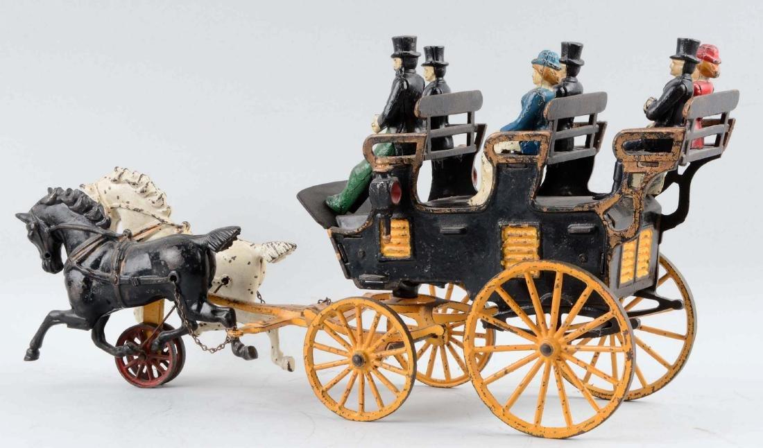 Hubley Horse Drawn Three Seat Brake. - 2