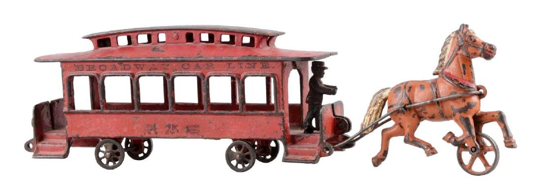 Wilkins One Horse Broadway Car Lin Street Car.