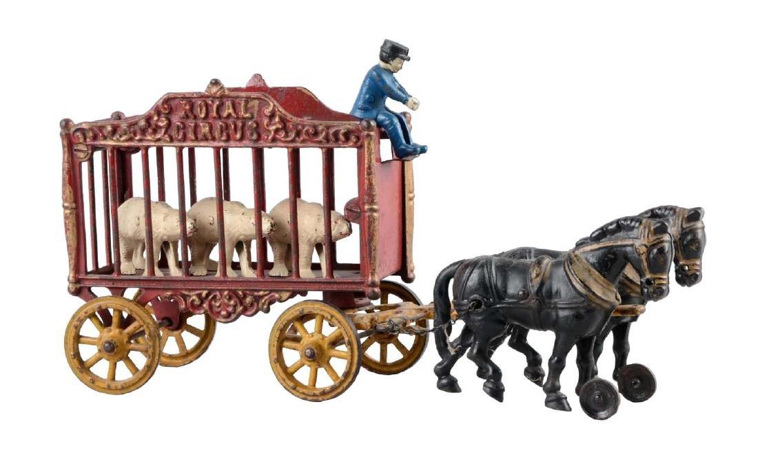 Hubley Horse Drawn Large Royal Circus Cage Wagon.