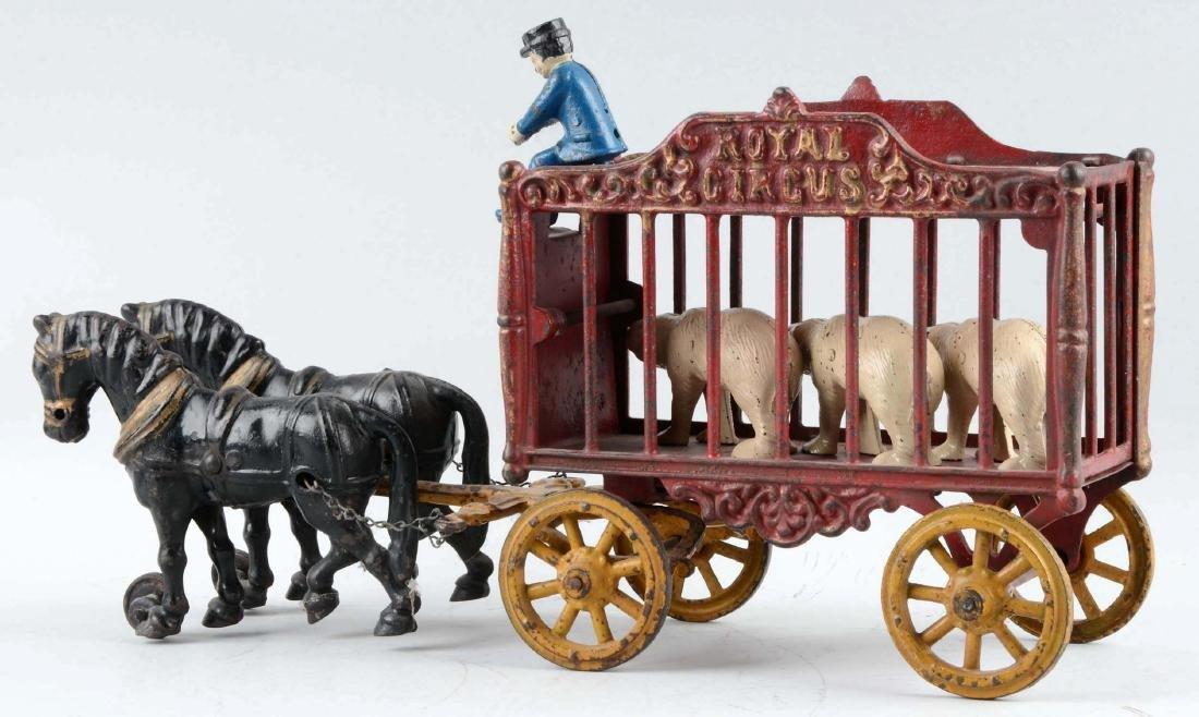 Hubley Horse Drawn Large Royal Circus Cage Wagon. - 2