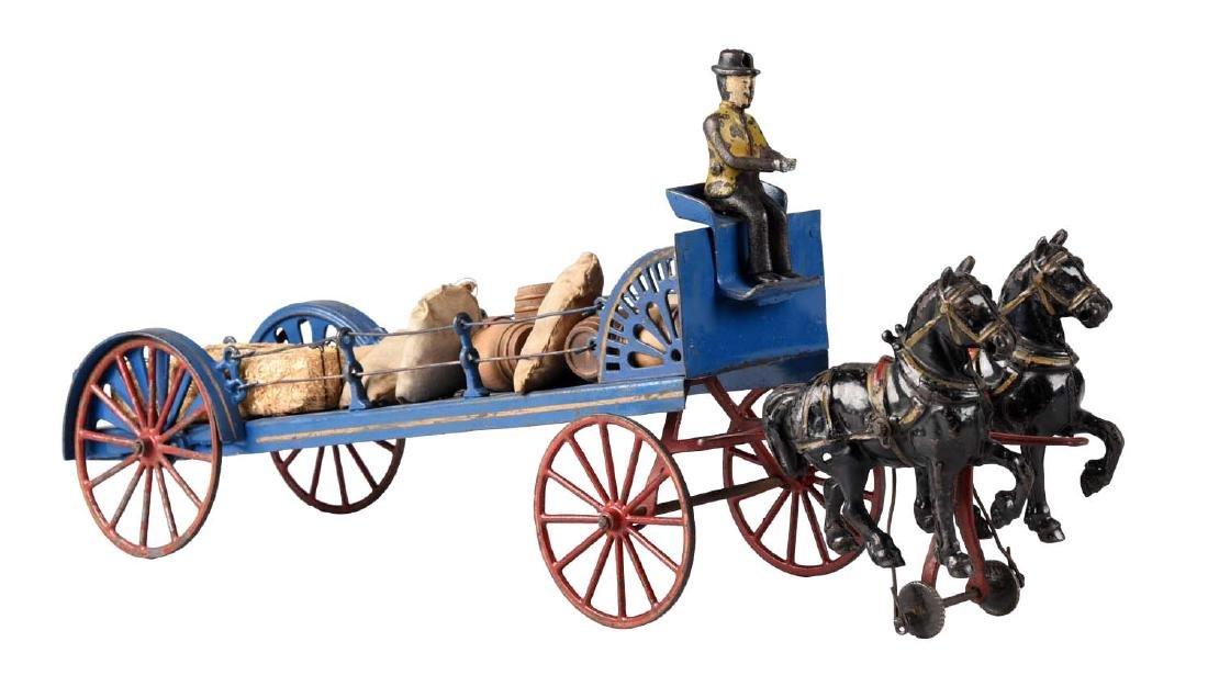 Wilkins Horse Drawn Barrel Dray Wagon.