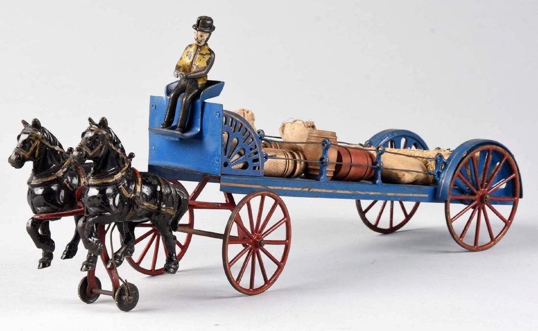 Wilkins Horse Drawn Barrel Dray Wagon. - 2