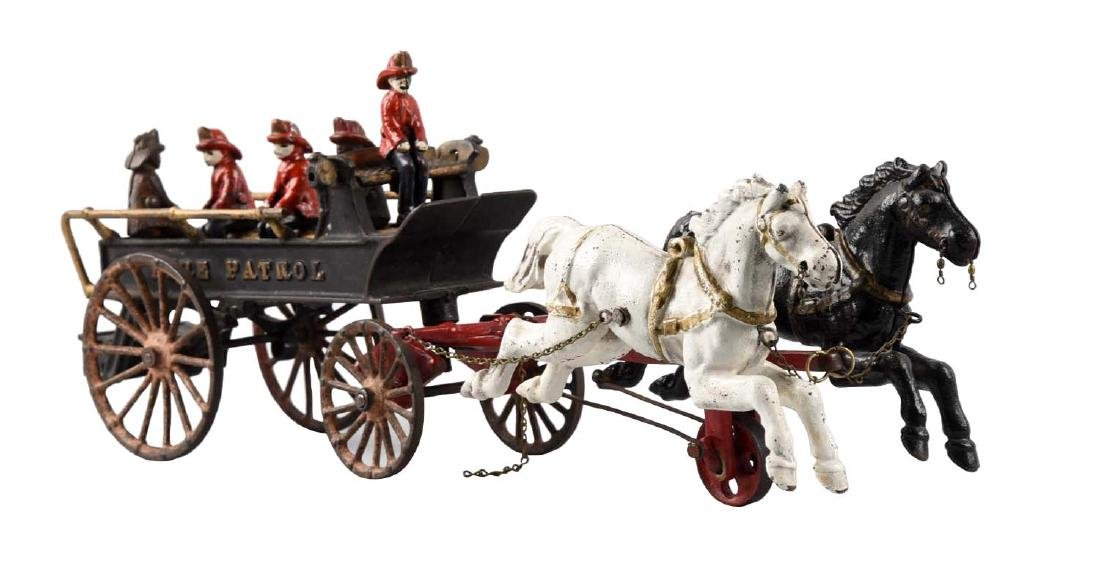 Ives Two Horse Drawn Cast Iron Fire Patrol.