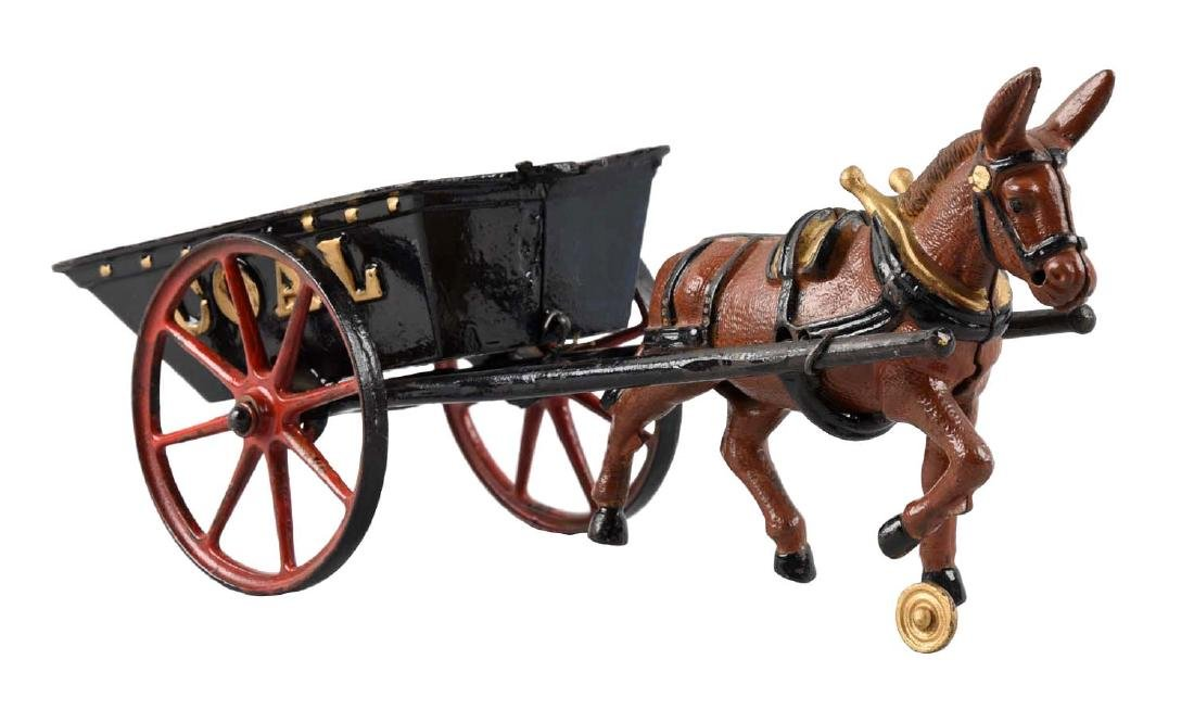 Ives Large Mule Drawn Coal Wagon.