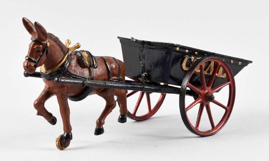 Ives Large Mule Drawn Coal Wagon. - 2