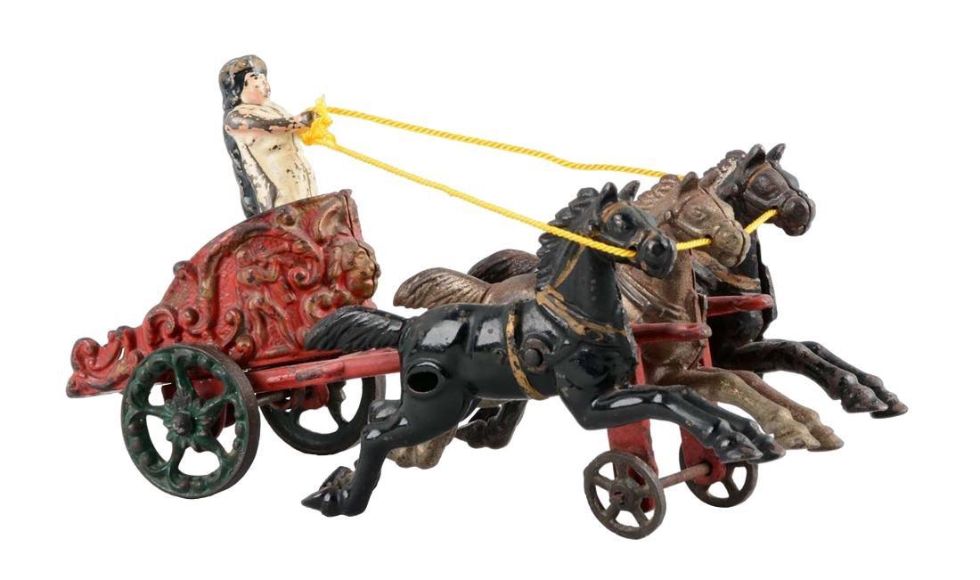 Hubley Small Three Horse Drawn Circus Chariot.