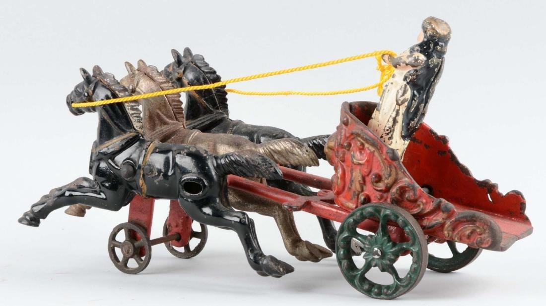 Hubley Small Three Horse Drawn Circus Chariot. - 2