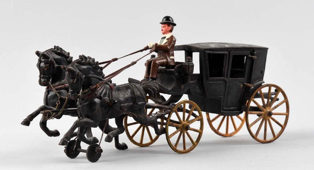 Shimer Two Horse Drawn Landau w/ Opening Doors. - 2