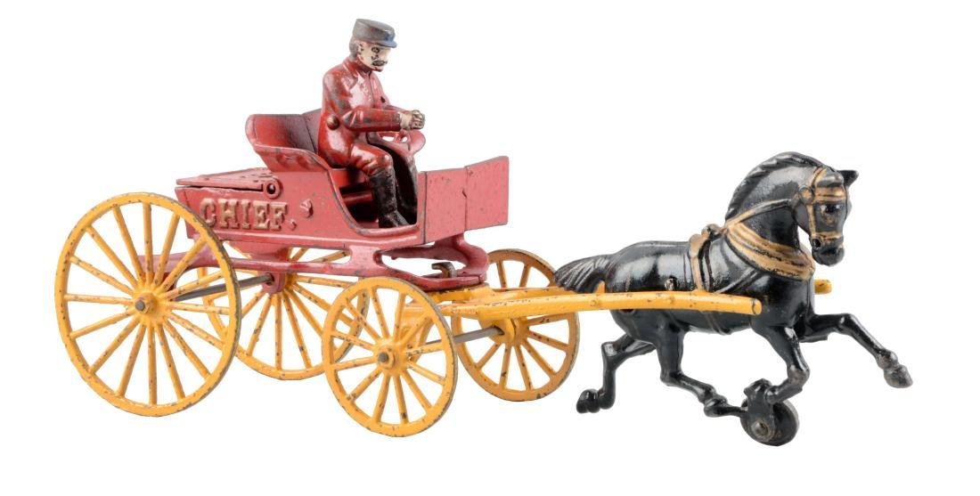 Cast Iron Kenton Horse Drawn Fire Department Chief