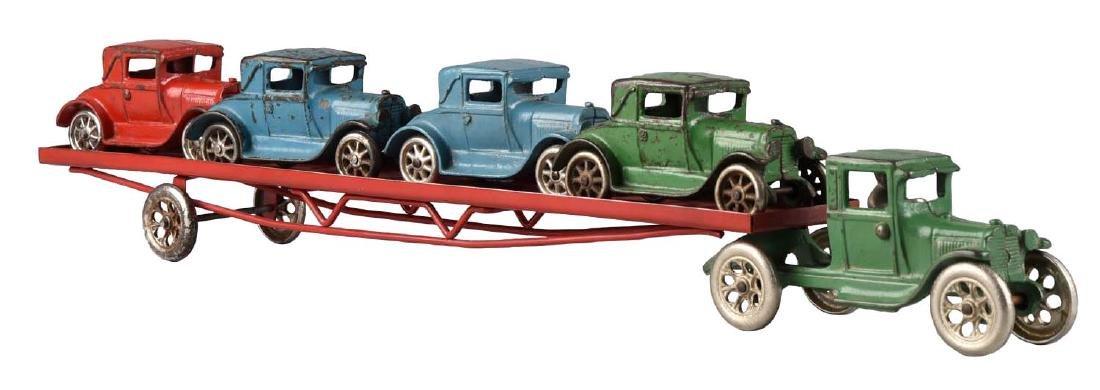 Arcade Tractor Trailer Car Hauler.
