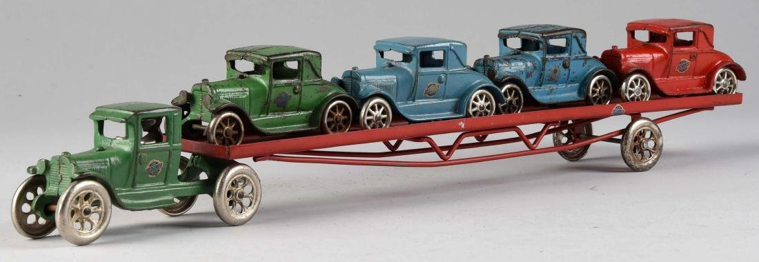 Arcade Tractor Trailer Car Hauler. - 2