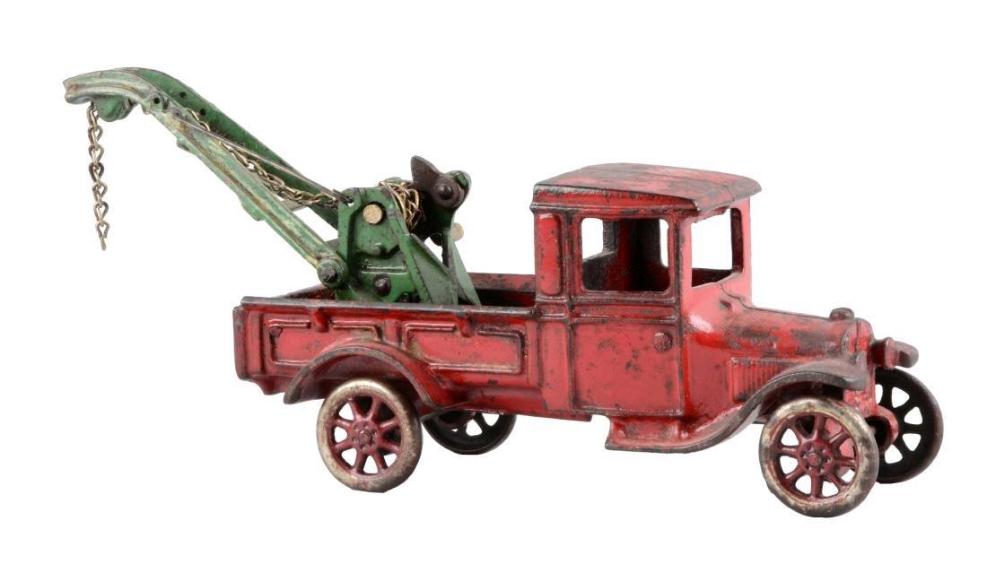 Cast Iron Arcade Wrecker Truck.