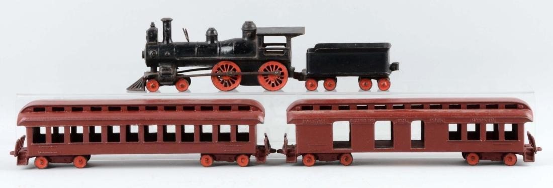 Wilkins 4 Piece Cast Iron Passenger Floor Train. - 2