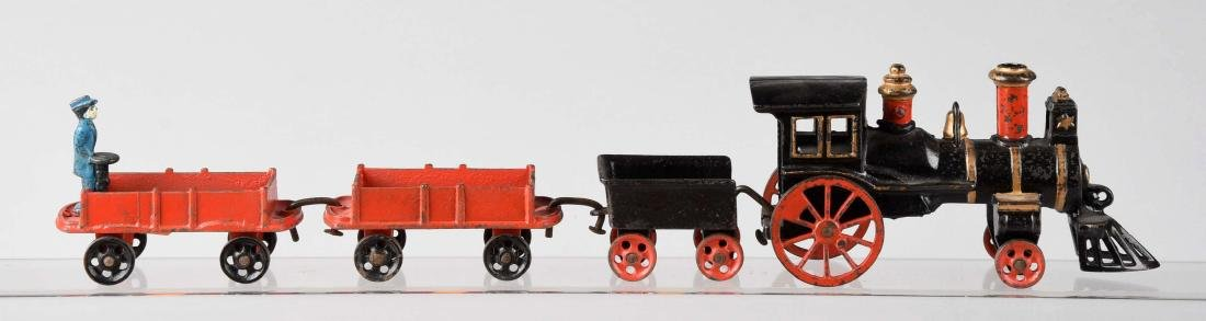 Carpenter 4 Piece Cast Iron Train Set.
