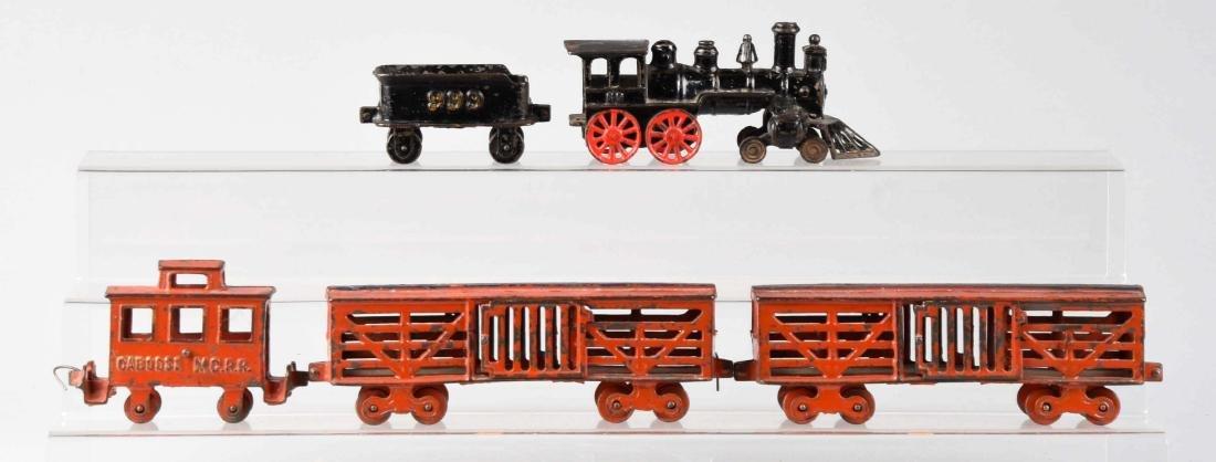Dent 5 Piece Cast Iron Freight Train Set.