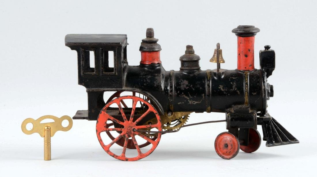 Ives Clockwork Cast Iron Locomotive.