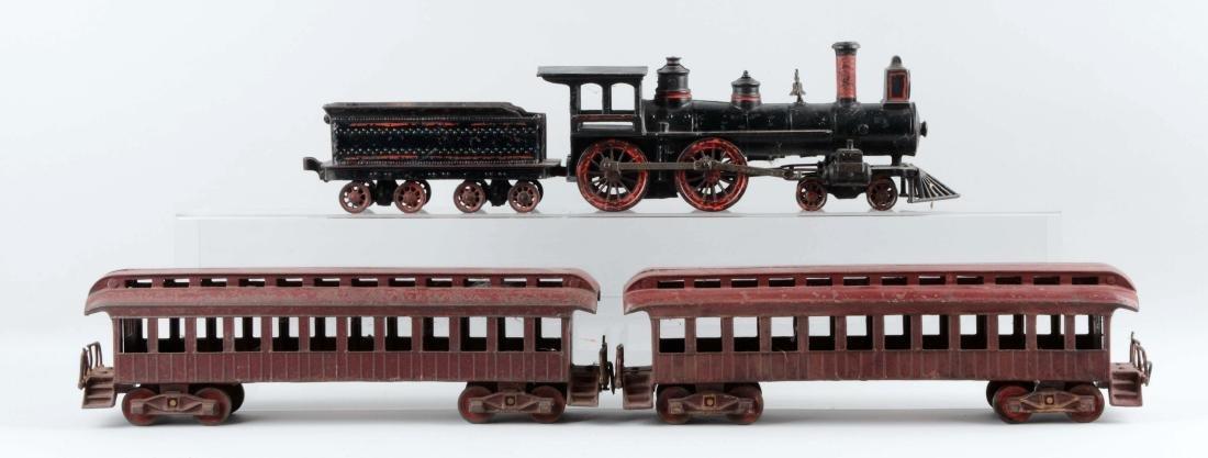 Wilkins 4 Piece Cast Iron Passenger Floor Train.