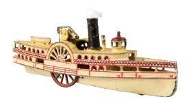 Harris Large New York Cast Iron Sidewheeler Steamboat.