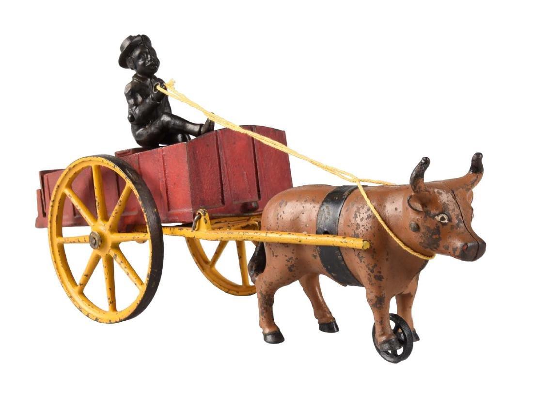 Scarce Hubley Ox Cart.