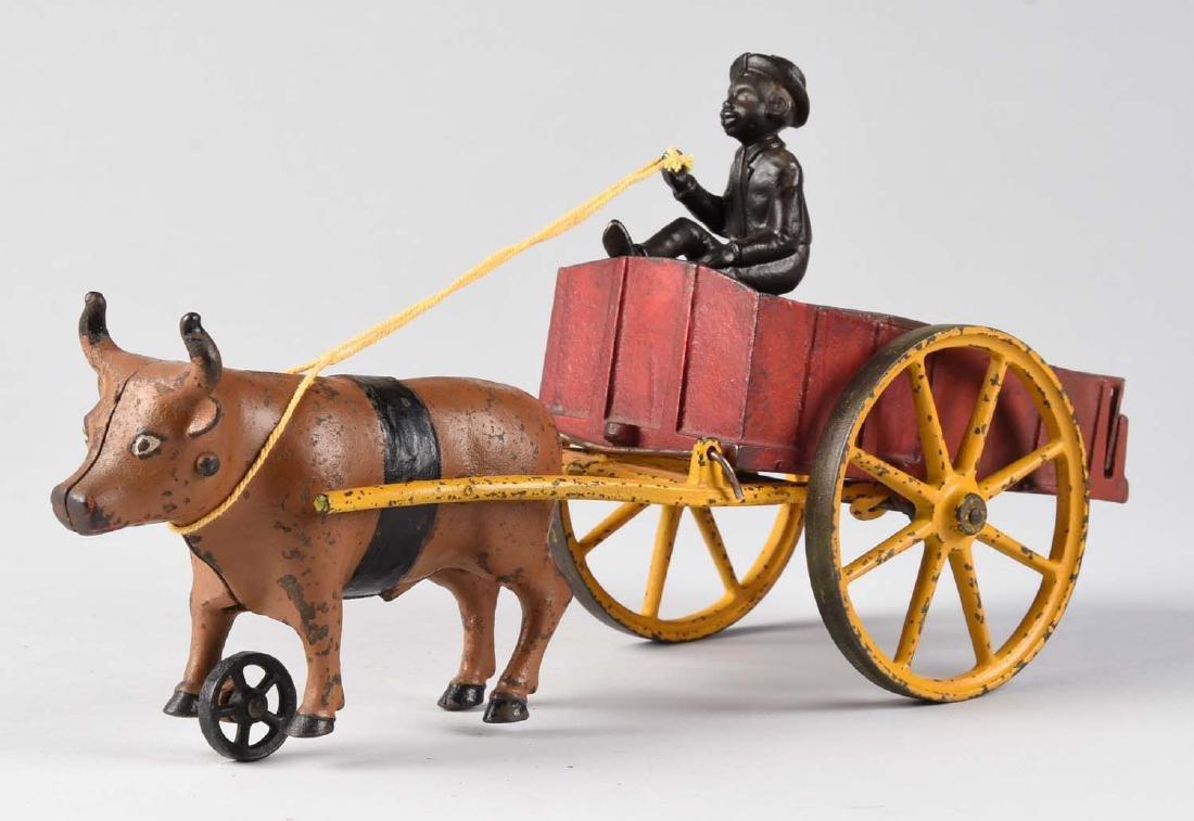 Scarce Hubley Ox Cart. - 2