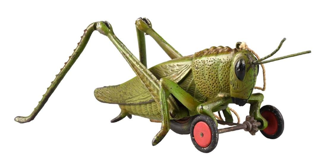 Hubley Cast Iron Large Grasshopper Pull Toy.