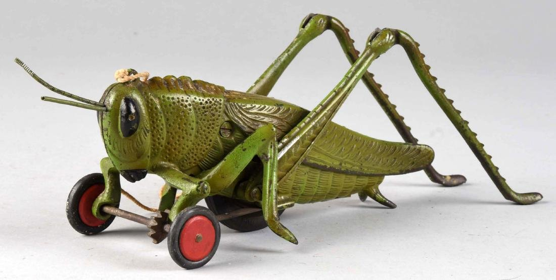 Hubley Cast Iron Large Grasshopper Pull Toy. - 2